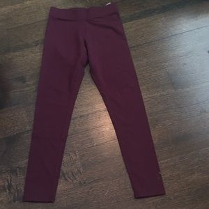 Aerie Maroon chill play move leggings